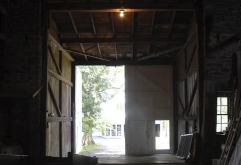 barn interior front