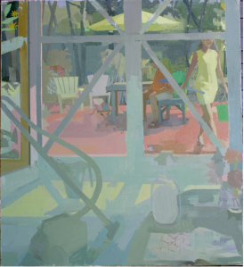 Studio Doors with Vacuum - oil on canvas 64x58
