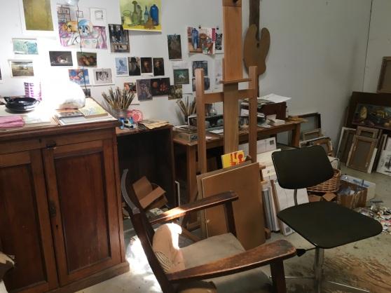 Ruth Miller's studio, 2017