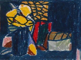 "Rotem Amizur Oil Pastel 4 Oil Pastel 8 1/2"" x 11"" 2012"