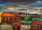 "Albert Kresch, Isle de Madame - Nova Scotia, Oil and acrylic on canvas board, 10"" x 14"", 2006"