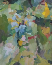 "Kristen Peyton Mahonia in May Oil on Stretched Canvas 20"" x 16"" 2018"