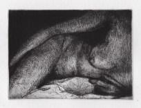 """François Dupuis Nocturne Etching Print: 4.7"""" x 3.3"""" Paper: 6"""" x 9.8"""""""