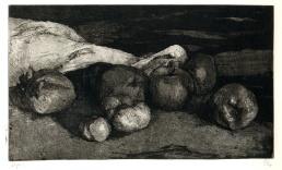 """François Dupuis Pommes à cidre Etching Print: 9.3"""" x 5.5"""" Paper: 14.2"""" x 9.8"""""""