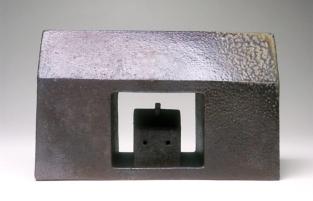 "Robert Winokur, Shrine for a Small House C, 8¼"" x 13½"" x 5½"", Salt Glazed Brick Clay, 2005"