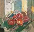 "Clintel Steed Tomatoes #1. Oil on board 27"" x 26"" 2018"