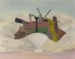 "Gwen Strahle Untitled Oil on canvas 2010 26"" x 36"""
