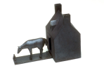 "Robert Winokur, The House of the Drunken Horse, 14"" x 18"" x 9"", Salt Glazed Brick Clay, 2004"