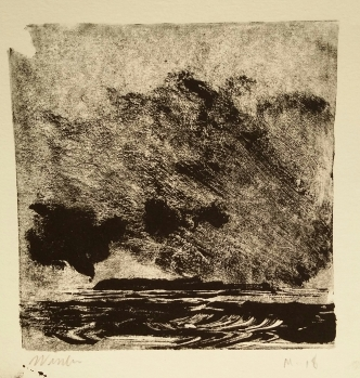 Wissler GCI May 2018 no.2 monotype 4 x 4 inches