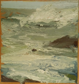Wissler Less Traveled oil on paper 5.75 x 5.5 inches