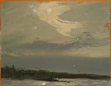 Wissler Opening oil on paper 4.5 x 6 inches