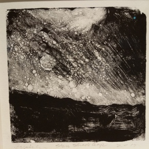 Wissler Stars, Shade Gap monotype 4 x 4 inches