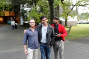 Artists Ron Prigat, Jeffrey Morabito, and Clintel Steed Photo by Onyx Clemons