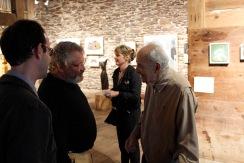 Painter John David Wissler, Elizabeth Kresch, and painter Albert Kresch Photo by Onyx Clemons