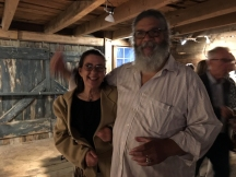 Lewis Tanner Moore and friend at the opening reception of Art at Kings Oaks.