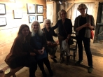 Painters Gwen Strahle, Susan Lichtman, and Miriam Hitchcock and guests at Kings Oaks.