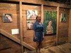 Painter Charity Baker and her work at Kings Oaks.