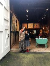 Kings Oaks Co-Director Clara Weishahn and artist Yuko Hays