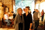 Sculptor Linda Brenner and Art at Kings Oaks Co-Director Clara Weishahn in the Barn Gallery Photo by Onyx Clemons