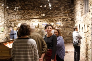 Artist Rotem Amizur in the Chapel Gallery at Kings Oaks. Photo by Onyx Clemons