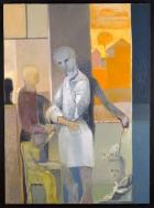"Deborah Kahn, After Ingres, Oil on canvas, 44"" x 32"", 2017"