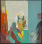 """Deborah Kahn, Floating, Oil on canvas, 38"""" x 36"""", 2014"""