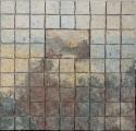 "Elizabeth MacDonald, Connecticut Hills, Ceramic tile mounted on board, 11 1:4"" x 11 1:4"", 2015"