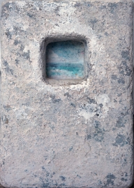"Elizabeth MacDonald, Seascape, Ceramic, 10"" x 7"", c. 1990"