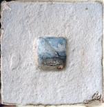 """Elizabeth MacDonald, Seashore, Ceramic, 5 1:2"""" x 5 1:2"""", c. 1990"""