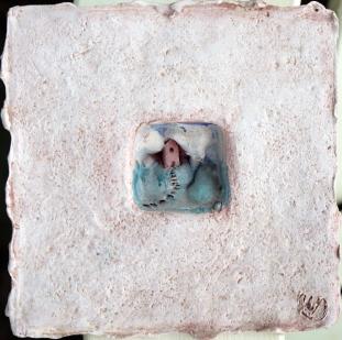 "Elizabeth MacDonald, Steps, Ceramic, 5 1:2"" x 5 1:2"", c. 1990"