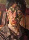 """Kouta Sasai, Self Portrait, Oil pastel on Arches paper, 12.2"""" x 9.5"""", 2019"""