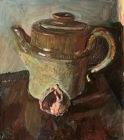 """Kouta Sasai, Still Life, Oil pastel on Arches paper, 10.2"""" x 11.8"""""""