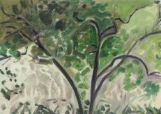 "Lois Dodd, Old Apple, Oil on aluminum flashing, 5"" x 7"", 2012, ©Lois Dodd, courtesy Alexandre Gallery, New York"
