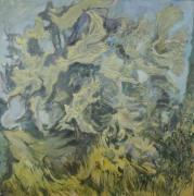 "Dorothy Frey, Vertigo, Oil on canvas, 20"" x 20"", 2008"