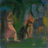 """Joy Into Grief, Oil on linen, 18"""" x 18"""", 2012"""