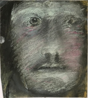 "David Fertig, The Patient of Dr. Étienne-Jean Georget, Pastel on paper, 8 1:2"" x 7 1:2"", 2019"