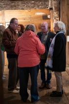 Guests and artist Derek Bernstein and Priscilla Watts.