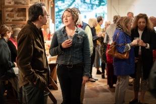 Kings Oaks artists Sarah Norsworthy and Eric Holzman.