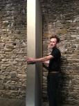 Brian Guerin installing a wall flat
