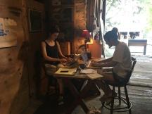 Clara Weishahn and Katerina Pak in the Kings Oaks office.