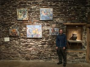 Drew Panckeri and his paintings.