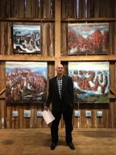 Scott Wheelock and his paintings.