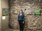 Sarah Norsworthy and her paintings.