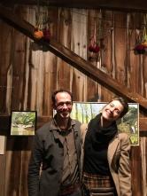 Co-curators Alex Cohen and Clara Weishahn.