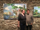 Artists Marybeth Chew (Art at Kings Oaks 2016) and Ryan.