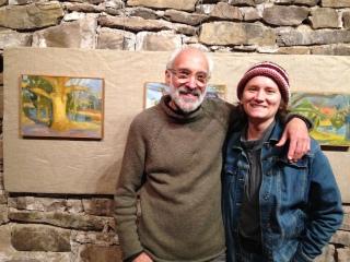 Artists Stuart Shils and Bettina Nelson.