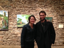 Artists Sarah Norsworthy and Abraham Murley (Kings Oaks 2018).