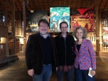 Tony, Alex, and poet Vasiliki Katsarou