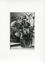 """""""Buttercups"""", François Dupuis, Etching, 6.7"""" x 4.3,"""" 2020"""