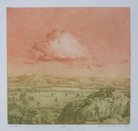 "Landscape, Gillian Pederson-Krag, Etching, AP, 10.5"" x 10.25"", 1980"